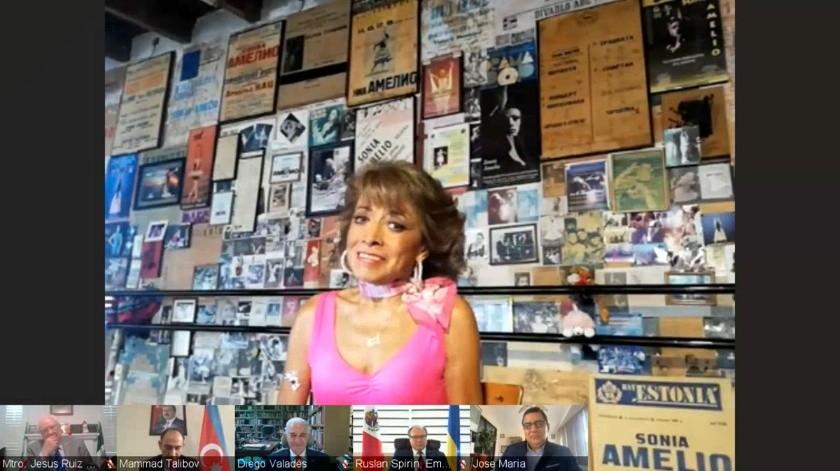 La realización de este Diálogo Virtual en homenaje a Sonia Amelio fue organizada por la Universidad de Tijuana CUT en colaboración con Magali Arriola del Museo Rufino Tamayo y Pável Granados Chaparro, Director General de la Fonoteca Nacional.(Cortesía)