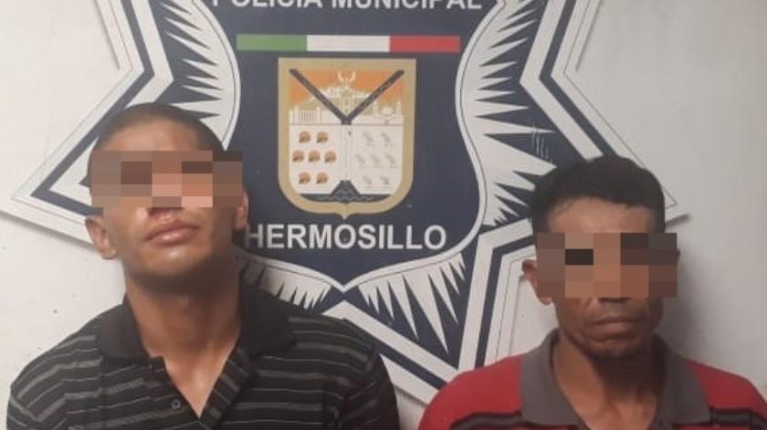Detienen a dos individuos por robo a vivienda en la colonia Mártires de Cananea(Especial)