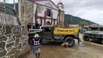 Gobierno de Oaxaca y Sedena habilitan albergue para damnificados tras sismo