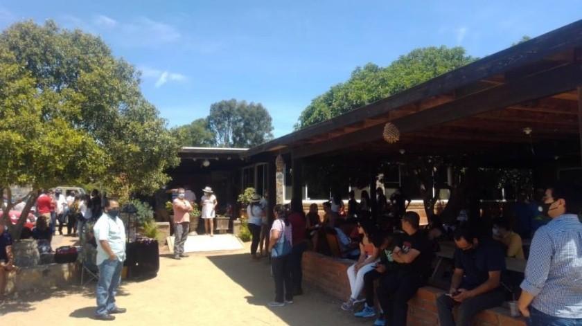 Denuncian aglomeración en restaurante de Valle de Guadalupe(Cortesía)