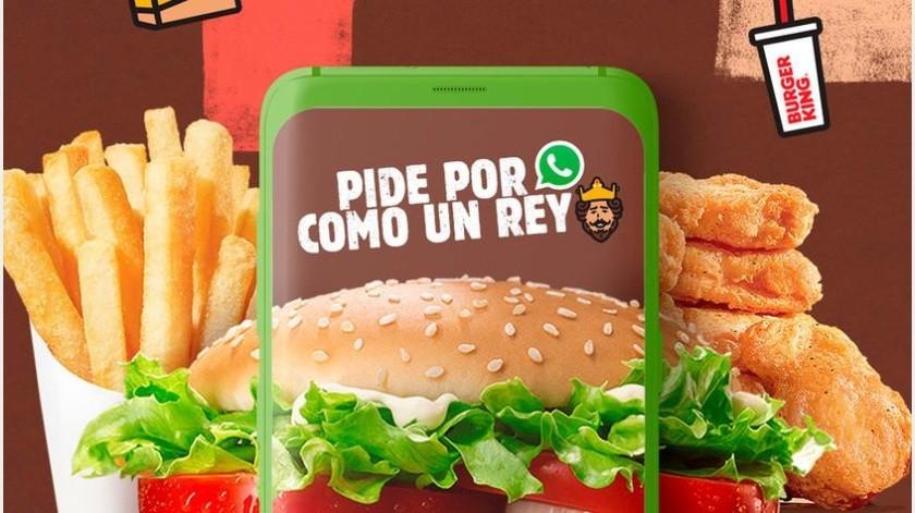 Burger King comienza a recibir pedidos por WhatsApp