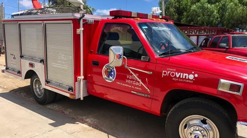 En infraestructura se logró la compra de una máquina extintora con capacidad de mil 500 galones por minuto, tanque de 600 galones, luces de emergencia, sirena electrónica, rines de metal con simuladores, dos líneas de pre conectado, una línea roja de carrete y escalera de aluminio de 24 pies.(Jayme Garcia)