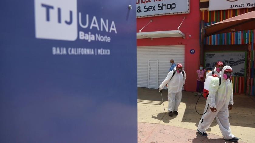 En la sanitización participó el departamento de Servicios Públicos Municipales.(Sergio Ortiz)