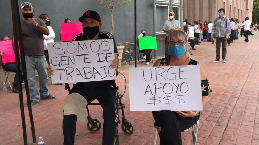 Los tiangueros están desesperados porque no han podido trabajar.(Julián Ortega)