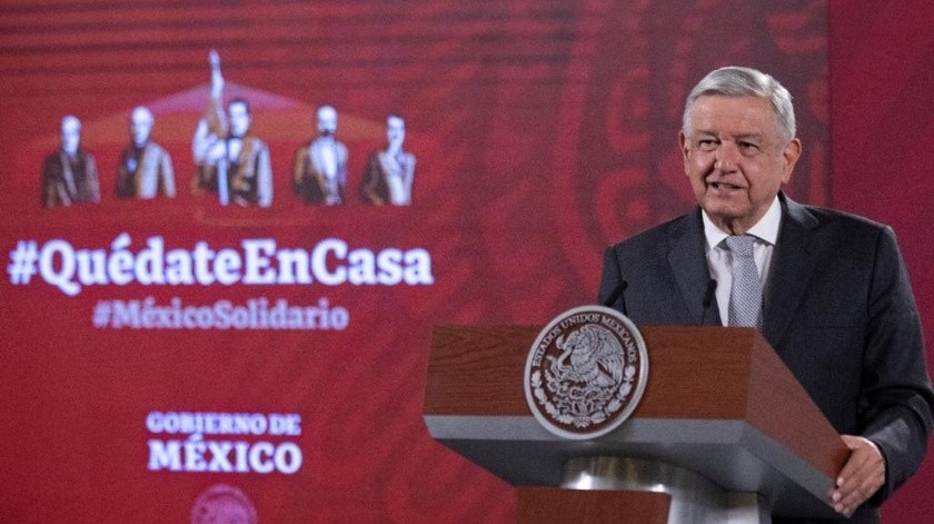 El mandatario precisó que constantemente hay anuncios, llamadas, amenazas en contra de servidores públicos.(Gobierno de México)
