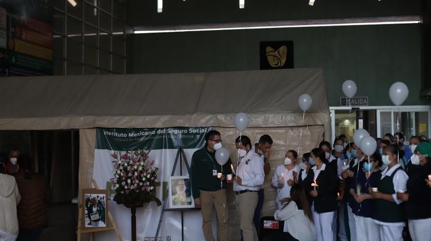 La ceremonia se realizó en la Clínica del 20 del IMSS.