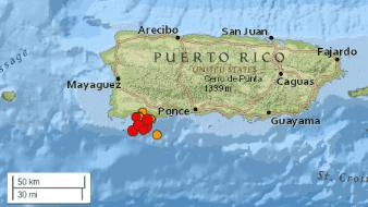 Un temblor de magnitud 5 sacude el Sur de Puerto Rico