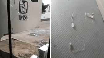 Rompe vidrio y escapa de IMSS sospechoso con Covid-19