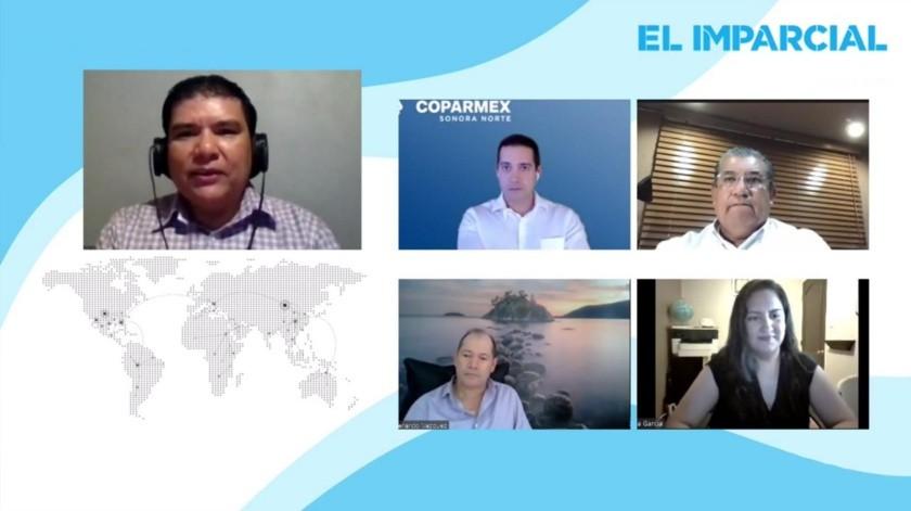 """Participantes en el panel virtual """"El camino hacia la recuperación económica de Sonora"""", presentado vía Facebook Live de EL IMPARCIAL.(Juan Hernández)"""