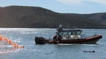 Practican rescate marítimo en la bahía de Guaymas