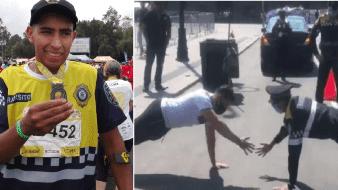 Policía Ramírez ganó viral reto de lagartijas y aspira a Tokio 2020
