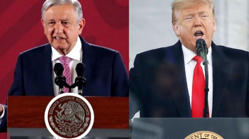 Diversos temas tratarán López Obrador y Trump.