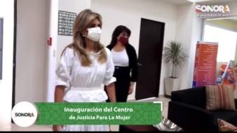 Inaugura gobernadora Claudia Pavlovich Centro de Justicia para la Mujer