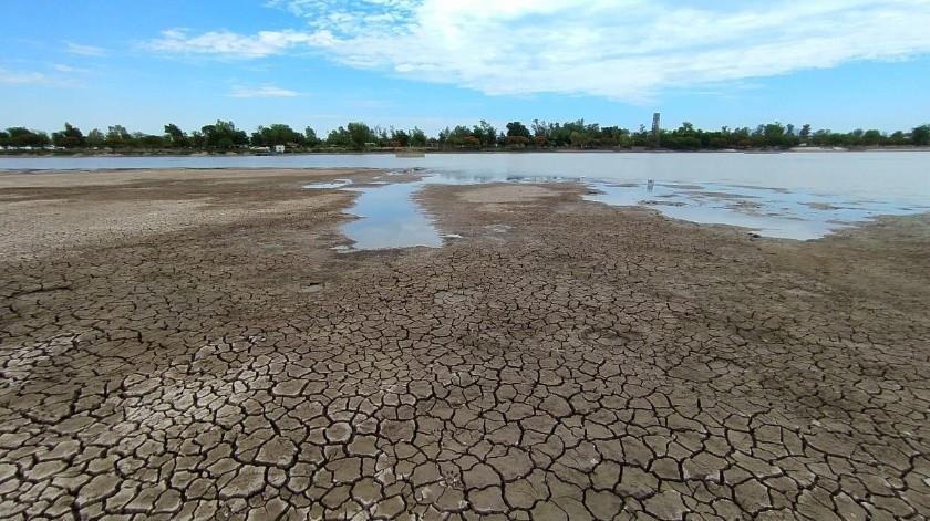 La Laguna del Náinari luce seca casi en su totalidad.(Especial)