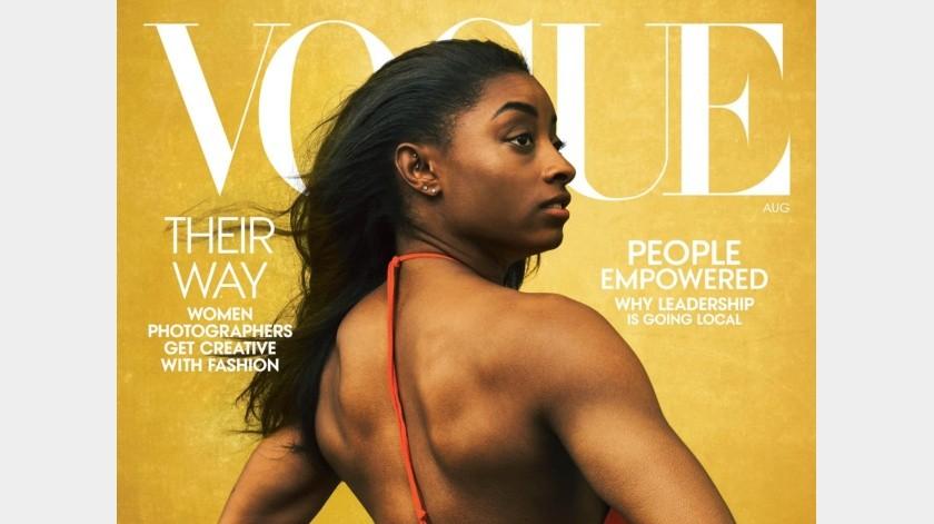 Simone Biles engalana portada de la revista Vogue(Instagram)