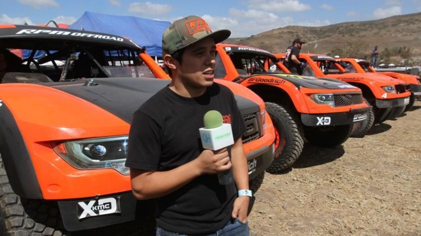 """El piloto bajacaliforniano de las carreras off-road, Carlos """"Apdaly"""" López."""