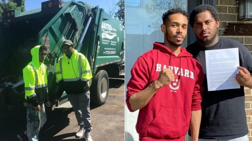 La reacción de un recolector de basura al ser aceptado en Harvard(Rehan Staton)