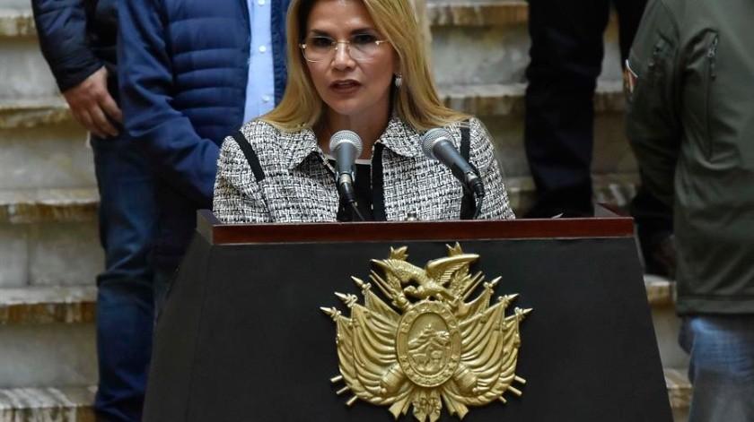 Presidenta interina de Bolivia, Jeanine Áñez, da positivo a Covid-19(EFE)