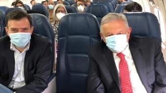 AMLO llega a Ciudad de México tras reunión con Donald Trump