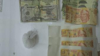 Arrestan a hombre con droga y billetes falsos en SLRC