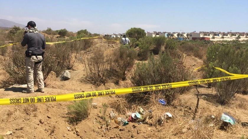 Los restos encontrados ayer estaban muy próximos a la unidad de UABC Valle de las Palmas.