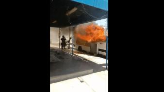 Hay avances sobre incendio a camiones de Bimbo: Seguridad Pública