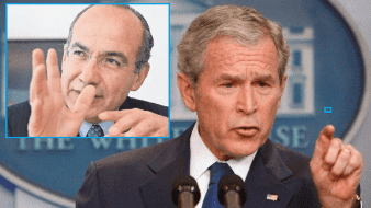 Recuerdan robo de celulares en visita de Felipe Calderón a EU