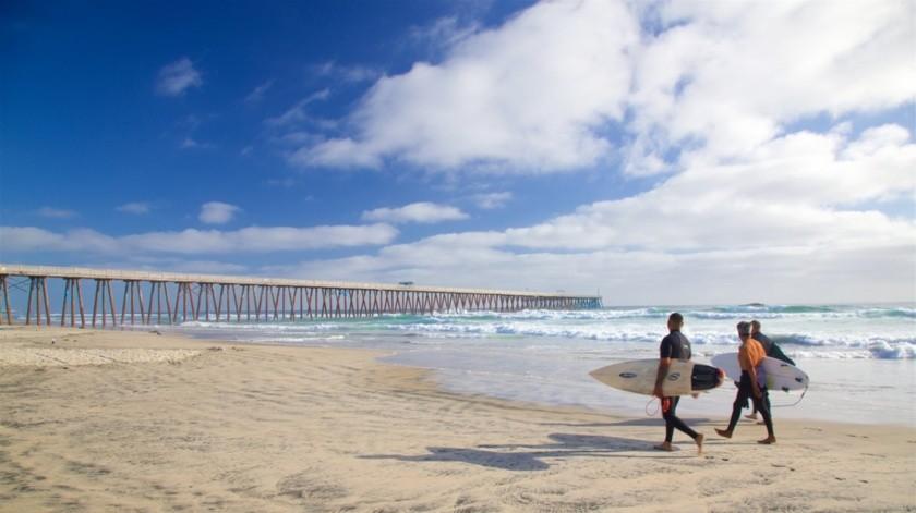 Únicamente está permitido acceder a la costa de la zona del centro en un horario de 6:00 a 10:00 horas(Tomada de la red)