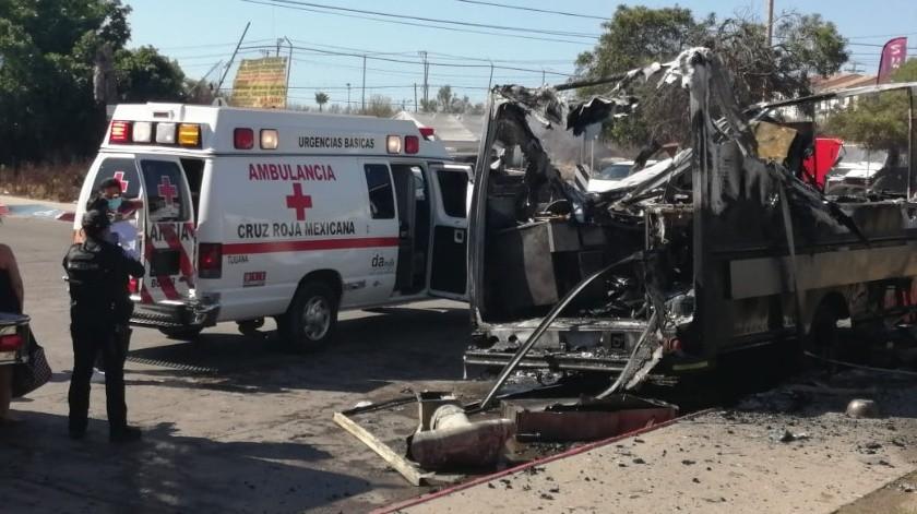 Se incendia local de comida en la colonia Santa Fe II Sección(Margarito Martínez)