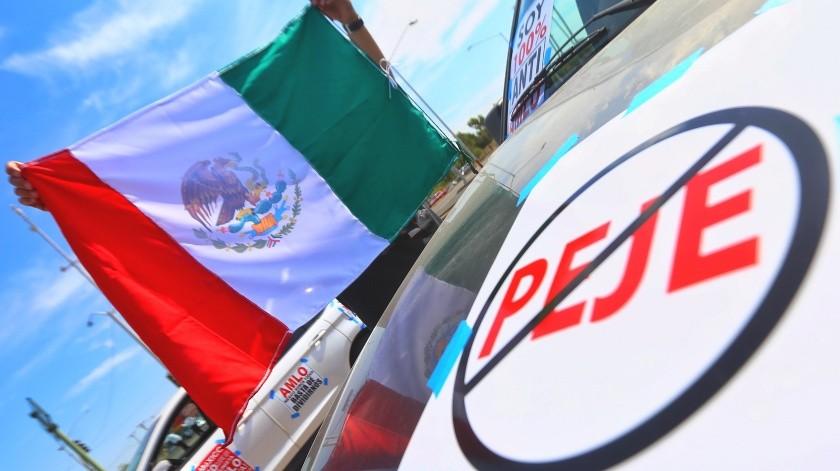Realizan cuarta marcha contra AMLO(Daniel Reséndiz)