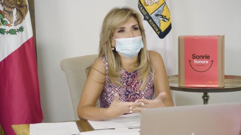 Claudia Pavlovich enfatizó que ante la pandemia por el coronavirus es necesario brindar el apoyo y las herramientas necesarias a los sonorenses.(Banco Digital)
