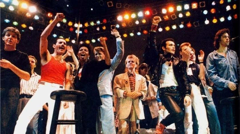 El 13 de julio de 1985, el concierto Live Aid comenzó en el extinto estadio de Wembley, con Cold Stream Guards y Status Quo.(Tomada de la red)