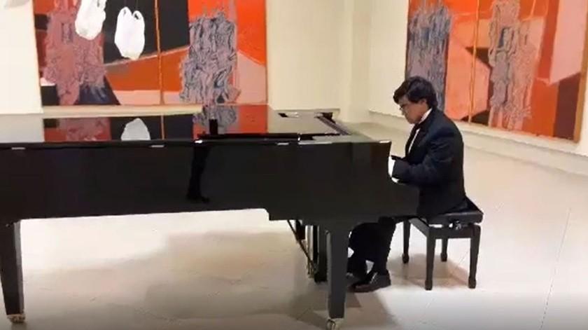 Fernando Silva Colón inició sus estudios de piano a la edad de 8 años en la Facultad de Artes de la Universidad Autónoma de Baja California, campus Tecate.(Cortesía)