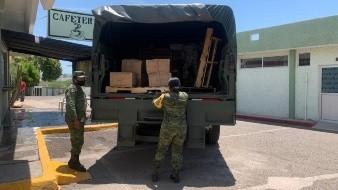 Llegan más de 3 toneladas de insumos médicos a Cuarta Zona Militar