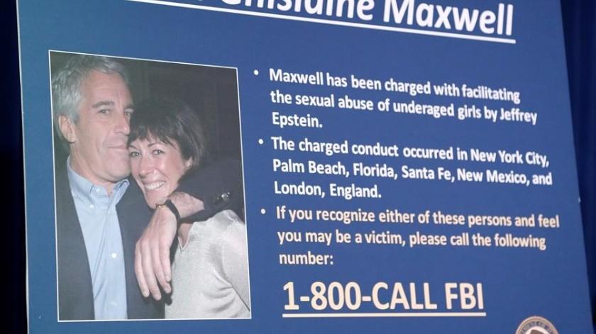 Maxwell trató de esconderse cuando la policía llegó a su mansión a arrestarla(EFE)