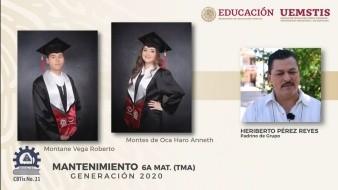 Organizan ceremonia de graduación virtual en Cbtis 21