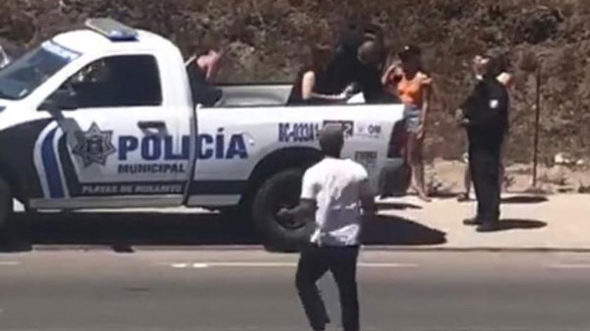 El hecho tuvo lugar los primeros días de este mes en las inmediaciones del kilómetro 38 de la carretera libre a Ensenada.(Cortesía)