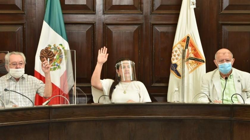 La alcaldesa Célida López participó anoche en el Comité de Salud Municipal.(Banco Digital)
