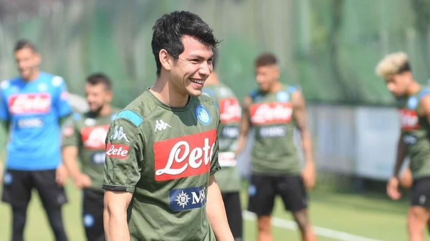 Luego de siete meses, 'Chucky' Lozano salió como titular con el Napoli