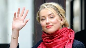 La actriz Amber Heard llega a la Corte Suprema para una audiencia en el caso de difamación presentado por Johnny Depp, en Londres