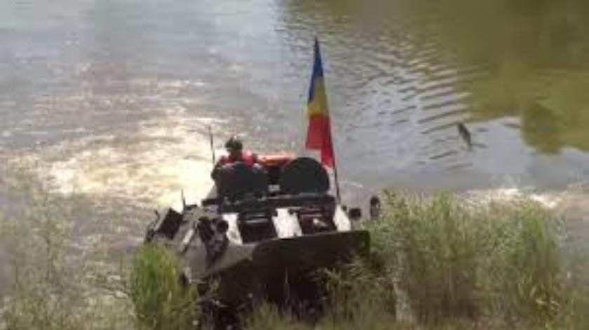 Pez salta directamente al vehículo  del ministro de Defensa de Moldavia(Tomada de la red)