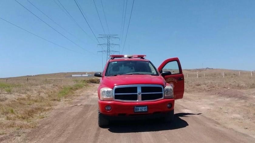 El cadáver fue descubierto sobre un camino vecinal de la colonia La Mina.(Carmen Gutiérrez)