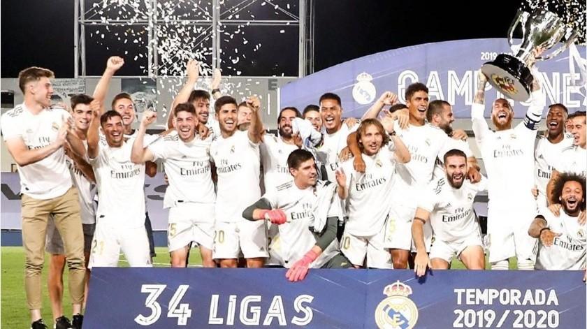 ¡Dignos caídos! Barcelona felicita al Real Madrid por el titulo de LaLiga(Instagram @realmadrid)
