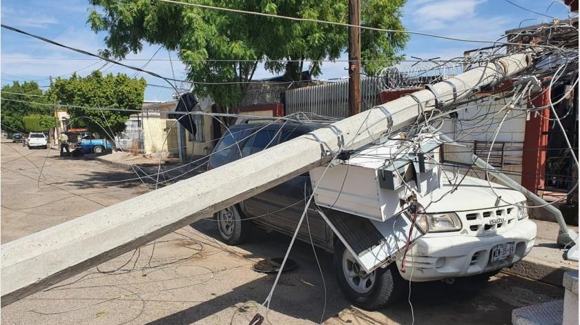 En al menos 10 localidades de Sonora se presentaron ayer lluvias, granizo y vientos(Julián Ortega)