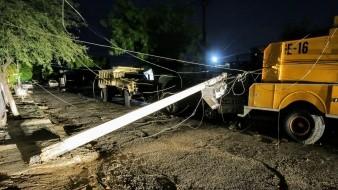 Más de doce horas sin energía eléctrica la colonia Progresista tras las lluvias
