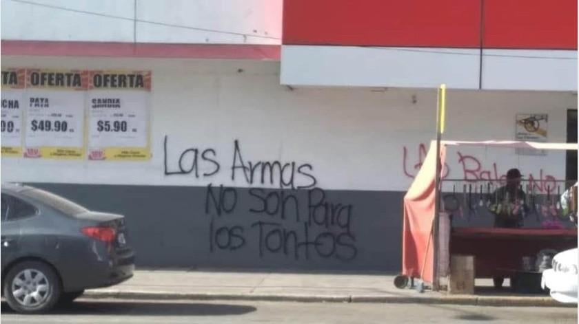 Pintan mensajes en Guaymas para expresar el repudio de los ataques armados contra niños(Especial)