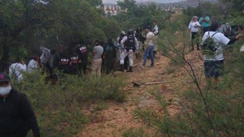 Madres Buscadoras de Sonora hallan el cuerpo de un hombre en Nogales(Especial)