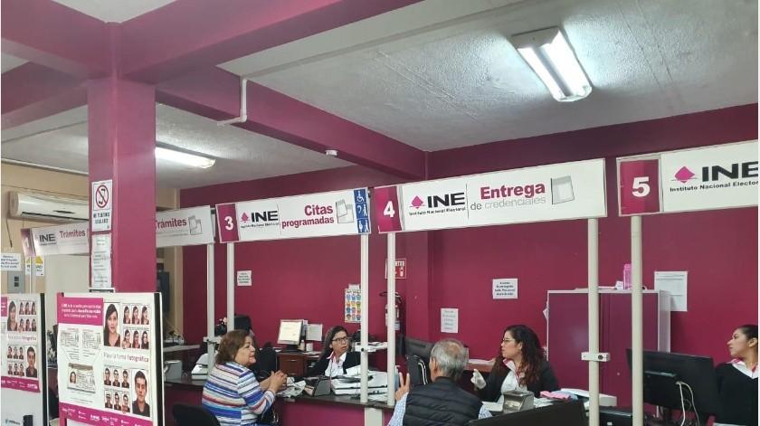 Con esto el INE inicia la reapertura de actividades gradualmente, ya que en Sonora se tiene un acumulo de credenciales por entregar de 21 mil 904.(Archivo GH)