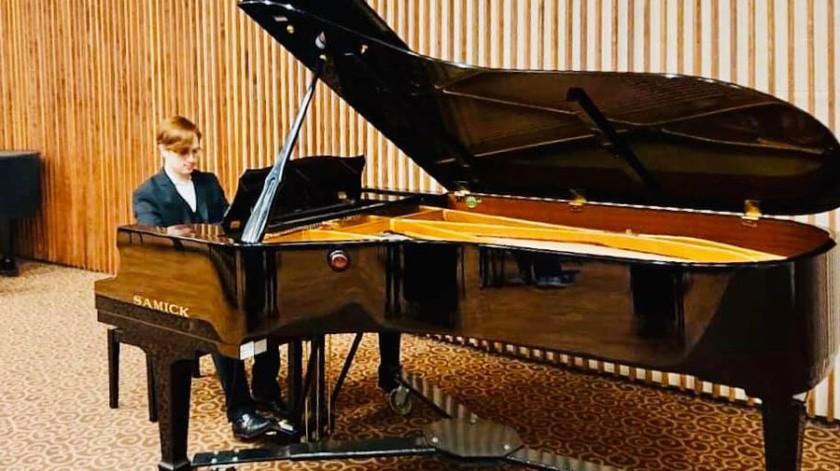 Erick Agraz Melero es un joven pianista bajacaliforniano procedente de Tecate.(Cortesía)