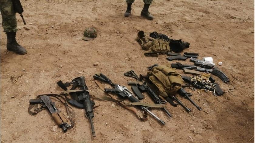 Los decomisos y hallazgos de armamento no han cesado en la región Norte de Sonora(Especial)